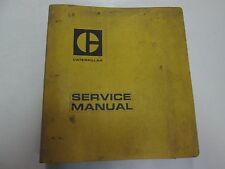 Caterpillar 627 Tractor Sleeve Metering Fuel System Service Manual SET BINDER