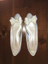 Caparros Ballet Flat with 3D Bow Detail Size 5.5 Penelope Ivory Bridal Shoes NIB