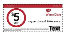 WINN DIXIE $5 OFF $40, Expires 8-13-17 Accepted at SOME Publix PDF