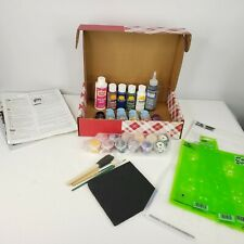 New Plaid One Stroke Acrylic Paints Simply Stencils Brushes Kit Qvc
