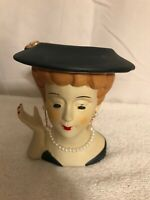Vintage Nippon Small Lady Head Vase Planter