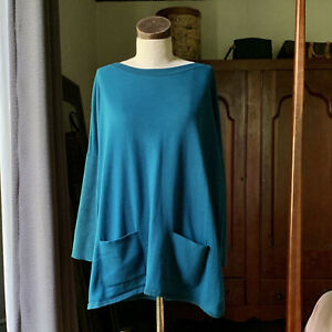 LILLY PULITZER Cobo Boat Neck Teal Sparkle Accent Sweater MEDIUM