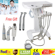 USA Portable Dental Delivery Mobile Cart Unit Machine 4-Hole Syringe Handpiece
