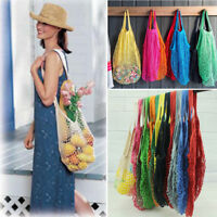 ECO Bags Fruit Shopping String Grocery Shopper Tote Mesh Woven Net Bag Reusable