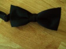 Childs Bow tie wrap around neck clip black DAD-6000