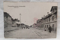 AK  Grafenwöhr Truppenübungsplatz Lagerstraße Litho gel. 1918