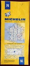 MICHELIN FRANCE 1973 COLOURED PAPER MAP of AURILLAC-St ETIENNE No 76 1:200 000