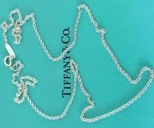 """Tiffany & Co 18"""" Sterling Chain 1mm Necklace Top Tiffany & Co. Seller!"""