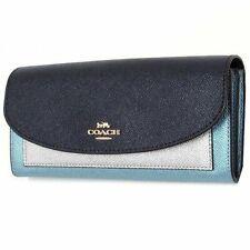 Coach Midnight Metallic Block Leather Slim Envelope Wallet F55646
