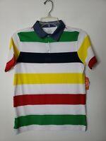 Wonder Nation Boys Striped Polo Shirt Size XXL 18 Colorful