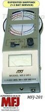 MFJ 201 - Solid-State Grid Dip Meter Covers 1.5-250 MHz in 6 bands, With 6 Coils