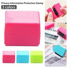 Roller Messy Code Self Inking Stock Stamp Mini Privacy Confidential Seal Guard