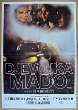 MADO-ROMY SCHNEIDER/MICHEL PICCOLI/J.DUTRONC-ORIGINAL YUGOSLAV MOVIE POSTER 1977