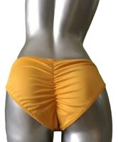 NWT Victorias Secret PINK Ruched Back Mini Bikini Bottom Cheeky Yellow XL