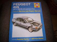 Peugeot 405 1988 - 1996 Petrol, Haynes Workshop Manual
