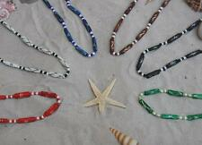 8 Mix Colour Unisex Surfer Skater Elasticated Bead Beach Necklaces / N048ag