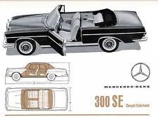 Mercedes Benz - 300 SE -  W 112 - Prospekt - D - nl-Versandhandel