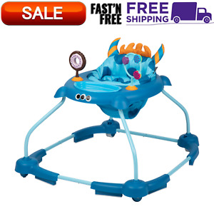 Cosco Simple Steps Walker 2.0 With Tray And Fun Interactive Toys, Monster Frank