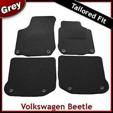 Volkswagen VW New Beetle 1998 - 2011 Oval Eyelets Tailored Carpet Car Mats GREY