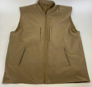 Rothco Concealed Carry Soft Shell Vest - Men's Coyote Brown CCW Tactical Vest 3X