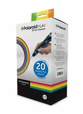 Polaroid Play 3D Pack of 20 x 5m bright color  PLA Filaments 1.75mm diameter