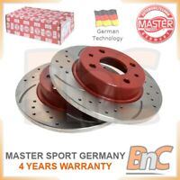 GENUINE MASTER-SPORT GERMANY HEAVY DUTY FRONT BRAKE DISC SET FOR LADA