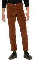 Wrangler Arizona Stretch Cords Mens Straight Leg Corduroy Jeans Bison Brown