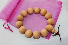 Huge Fragrance Pure Gold Sandalwood Beads Meditation Prayer Feng Shui Bracelet