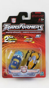 Hasbro Transformers 2001 Robots In Disguise Side Burn and Daytonus MOSC