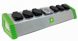 Lumii Contactor Timer 6 Way Socket - Grow Light Relay Grasslin Timer