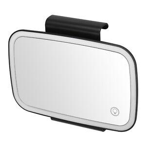 Car Sun Visor Mirror with LED Lights Makeup Sun-shading Cosmetic Mirror W3J6