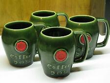 VTG MCCOY COFFEE D.O.M Liqueur Set 4 MCM Mugs Seal BENEDICTINE DOM Ceramic USA