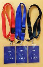 10 Pcs Plastic Neck Strap ID Badge Press Pass Card Holder Name Tag WHOLESALE