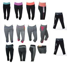 Sports Ladies Cropped Pants 3 Quarter Leggings Running Yoga Fitness Gym Bottoms