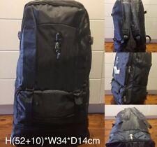 Large Backpack With extendable ,school Bag , Travel Bag ,Black #2100 black