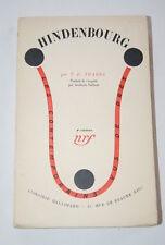 Allemagne-Hindenbourg,YBARRA,NRF-Gallimard,1932