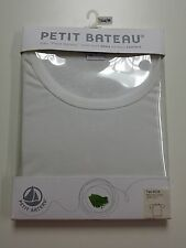 NEW FREE SHIP - Petit Bateau Boys T-Shirt Tee - White - 16 Year / M - Cotton
