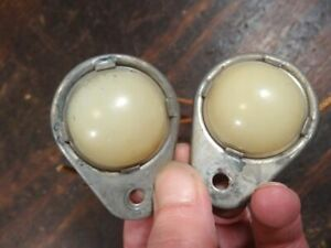 Pair Vintage License Lights DeSoto Chevy Ford Plymouth Packard  T9