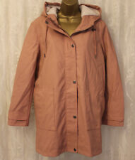 ASOS Premium Quilted Shearling & Lining Hooded Rain Coat Winter Jacket 16 44