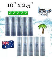 5 MICRON 5 + 5 WATER FILTER CARTRIDGES 100% COCONUT CARBON +POLY SPUN SEDIMENT ✅
