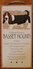 "Advice from a BASSET HOUND Sign Wood 10""x5""  Wall Hanging Great Picture Plaque"