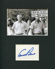 Arnold Palmer PGA Golf Champ HOF Signed Autograph Photo Display W/ Jack Nicklaus