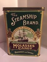 Vintage Stewart and Young 'The Steamship Brand Molasses Candy' advertising tin