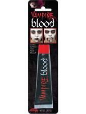Halloween Falso Rojo Sangre Vampiro Zombie Cara Maquillaje Elegante Vestido Diversión Teatral