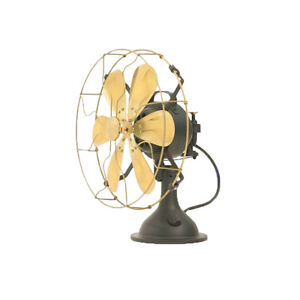 """12"""" Blade Electric Table Desk Fan Oscillating Work 3 Speed Vintage Antique style"""