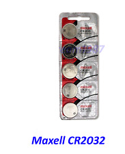 5 count Maxell CR2032 2032 Lithium Coin Battery made in Japan