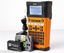 Brother PT-E300VP Mains / Rechargeable Handheld Label Printer - + Case + Tape