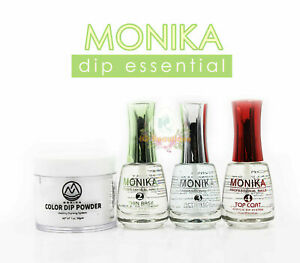 MONIKA DIP PRO KIT - Clear Color Set Powder 2 oz  + Thin Base, Activator, Top.