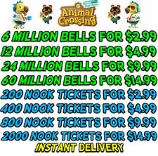 Animal Crossing:New Horizons Bells, Nook Miles Tickets, Fish Bait Fast Delivery