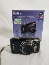 FujiFilm FinePix T190WM 14MP COMPACT DIGITAL CAMERA BLACK - BROKEN SOLD AS IS